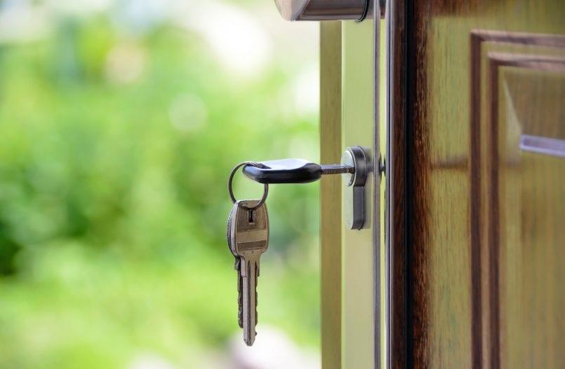 Key to front door
